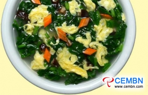 LATEST NEWS Simple diet: Shiitake mushroom soup with spinach and egg