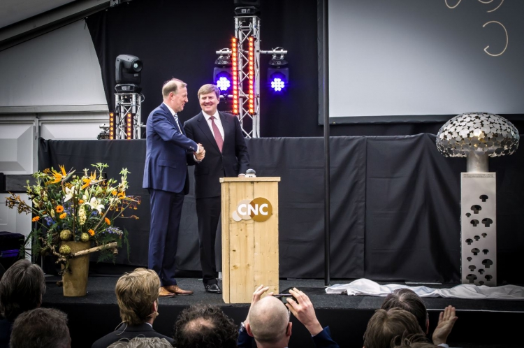 King Willem-Alexander opens CNC Grondstoffen's new Indoor Fresh Compost factory