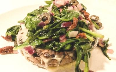 Portobello's with spinach