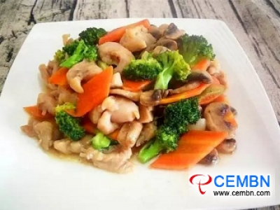 Magnificent recipe: Braised Button mushroom with drumsticks and vegetables