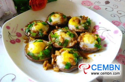 Recipe: Scrumptious steamed Shiitakes filled with quail eggs
