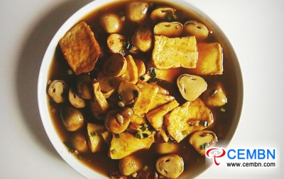 Recipe that goes well with rice: Braised Straw mushrooms with tofu